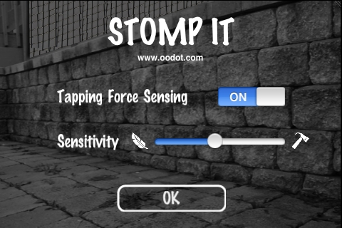Screenshot Stomp It – with Tapping Force Sensing