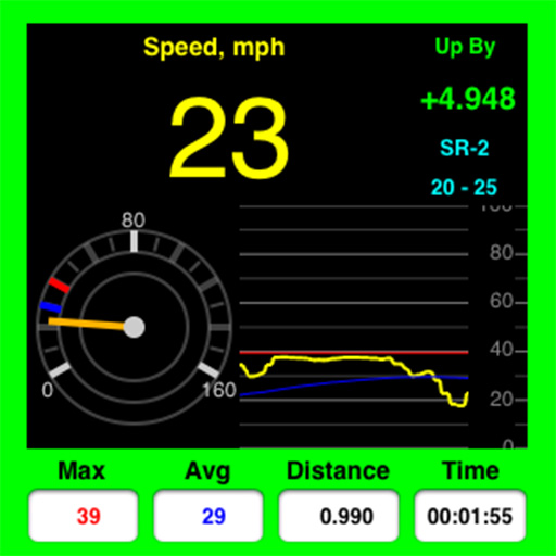 AudibleSpeed (GPS Speed Monitor) - CONTINUOUS AUDIBLE MONITORING of your current speed!! app icon